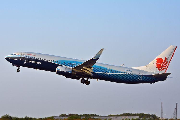 Lion Air tipe pesawat Boeing 737-900ER registrasi PK-LFG yang akan menjadi salah satu armada terpasang wireless inflight entertainment (W-IFE). Lion Entertainment