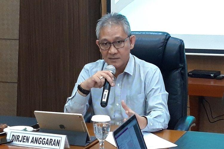 Direktur Jenderal Anggaran Kementerian Keuangan (Kemenkeu) Askolani di Jakarta, Kamis (26/8/2019).