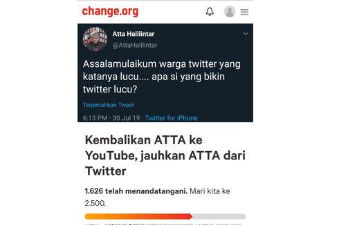 Setelah Trending #Atta, Kini Muncul Petisi Kembalikan Atta Halilintar ke YouTube