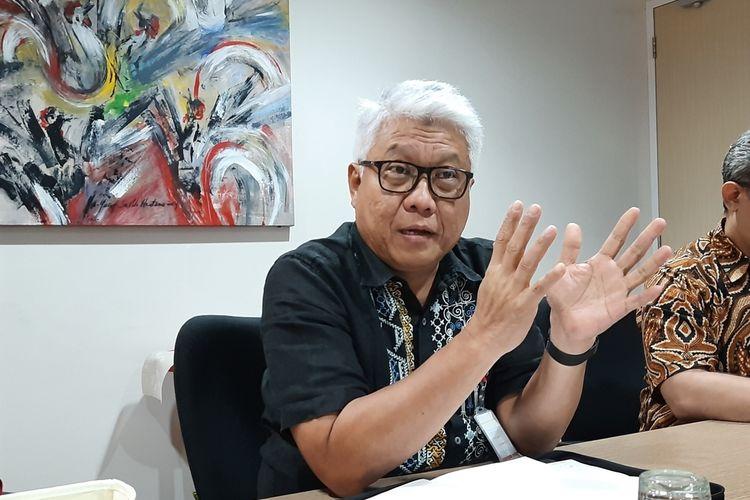 Direktur Utama PT Jakpro Dwi Wahyu Darwoto, di Kantor Jakpro, Thamrin City, Jakarta Pusat, Senin (25/11/2019)