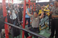 Cerita Aiptu Ifanudin Bangun Tempat Fitness dengan Alat Gym Rakitannya