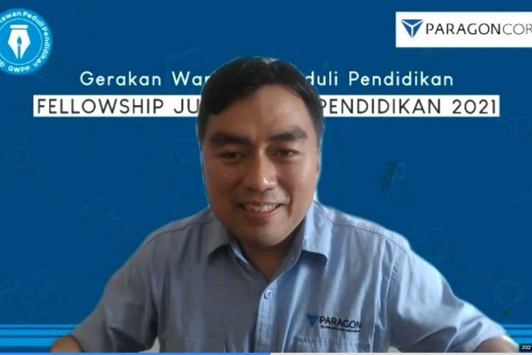 CEO PT Paragon Technology and Innovation (Wardah), Salman Subakat saat berbagi cerita mengenai kepeduliannya pada dunia pendidikan di Indonesia.