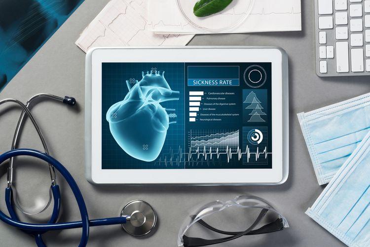 Ilustrasi detak jantung.