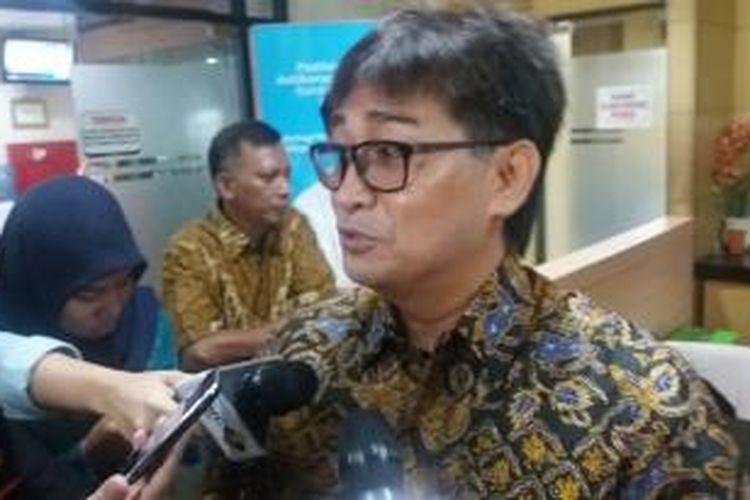 Andi Zoelkarnaen Malarangeng alias Choel Malarangeng di Gedung KPK, Kuningan, Jakarta Selatan, Jumat (15/1/2016)