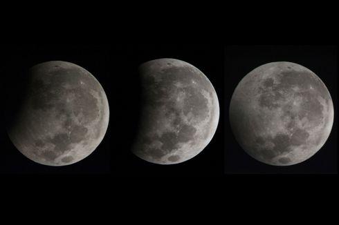 Begini Indahnya Gerhana Bulan Sebagian Semalam