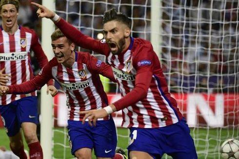 Kemesraan dalam Selebrasi Gol Pemain Atletico Madrid