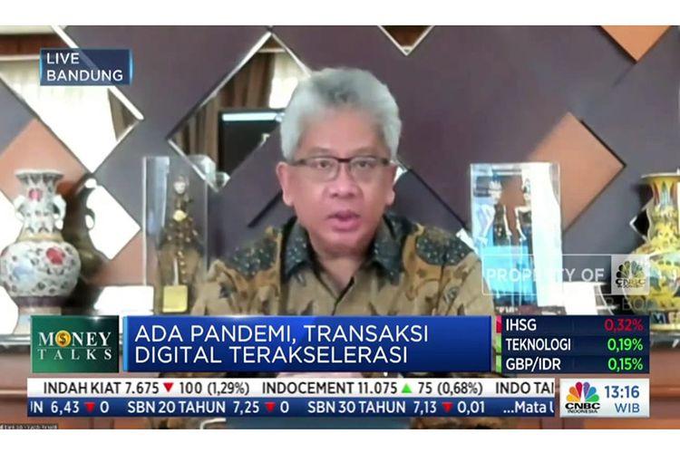 Direktur Utama Bank BJB Yuddy Renaldi dalam talk show Money Talks Power Lunch: Digitalisasi BPD di CNBC Indonesia, Kamis (24/6/2021).
