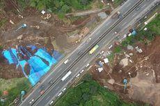 Penguatan Lereng Longsor yang Ancam Tol Cipularang KM 118 Terkendala Hujan