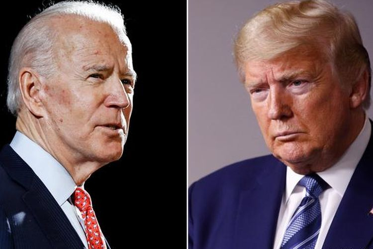 Joe Biden dan Donald Trump di pilpres AS 2020.