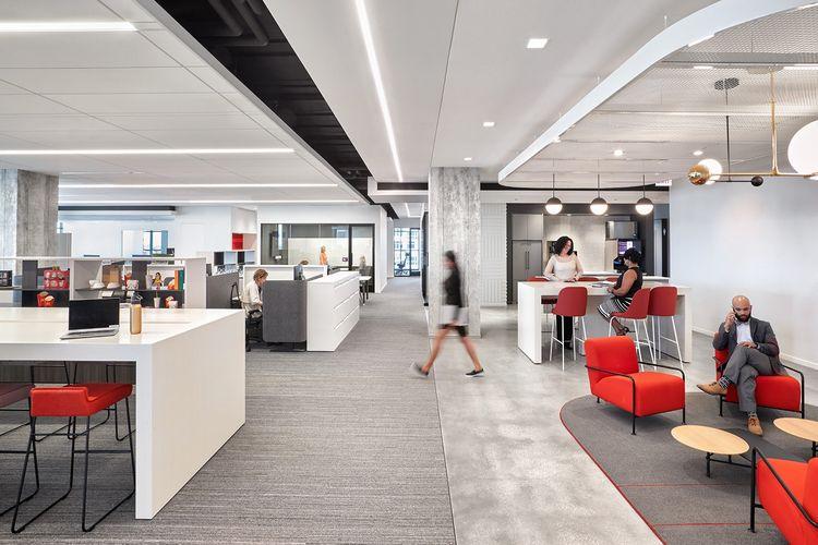 Bangunan berlantai sembilan tersebut dirancang agar dapat menampung berbagai gaya kerja.
