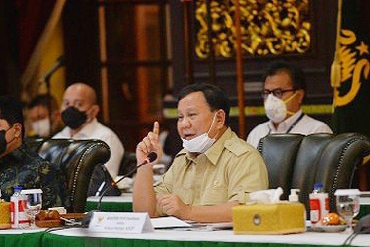 Menteri Pertahanan (Menhan) Prabowo Subianto memimpin rapat pleno KKIP Tahun 2021