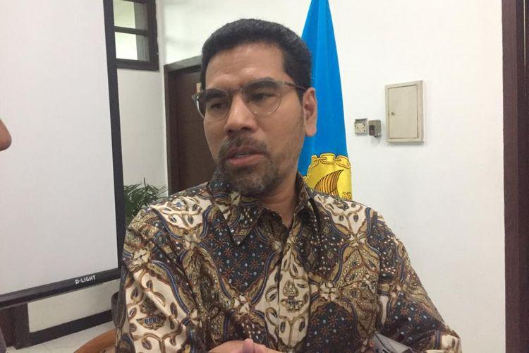 Komisioner Komnas HAM, Amiruddin, dalam konferensi persnya di kantor Komnas HAM, Jakarta Pusat, Selasa (16/7/2019).