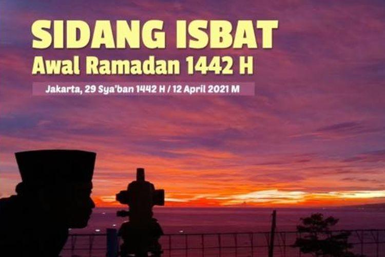 Kemenag akan menyiarkan langsung sidang isbat penentuan awal Ramadhan 2021, salah satunya melalui kanal YouTube Kemenag, Senin (12/4/2021).
