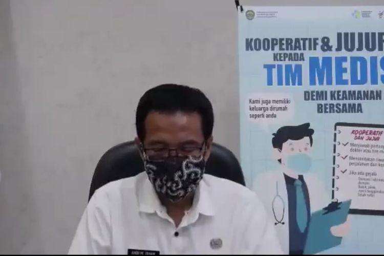 Kepala Dinas Kesehatan Kaltim, Andi M Ishak saat memberi keterangan pers melalui Zoom di Samarinda, Kaltim, Rabu (6/5/2020).
