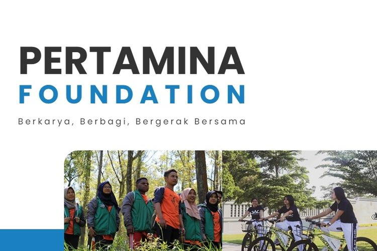 Tampilan layar Pertamina Foundation.