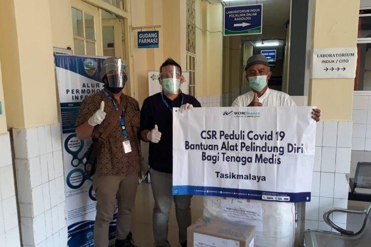 RSUD Soekardjo Tasikmalaya mendapatkan bantuan APD dan kelengkapan medis lainnya berasal dari perusahaan swasta pada Senin (5/10/2020).