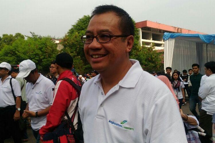 Direktur Utama PT Angkasa Pura I (Persero) Faik Fahmi setelah melepas 2.000 pemudik gratis ke Semarang, Yogyakarta, dan Solo dari Kemayoran, Jakarta Pusat, Senin (11/6/2018).
