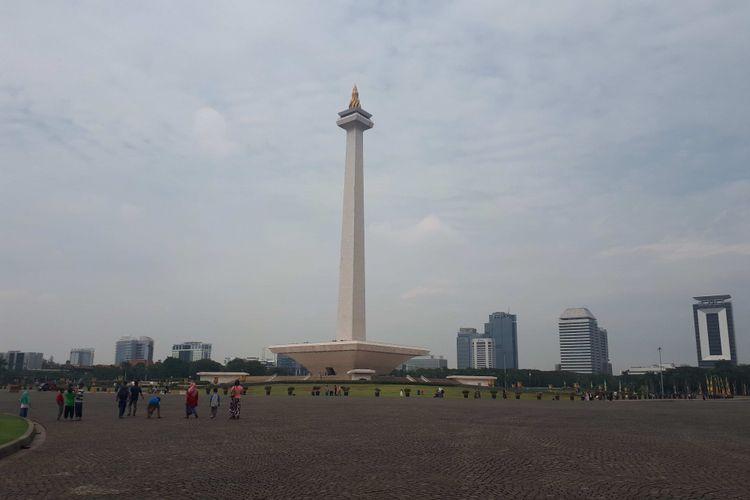 Suasana Monumen Nasional (Monas), Selasa (26/6/2018)