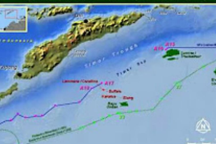 Peta garis batas di Laut Timor