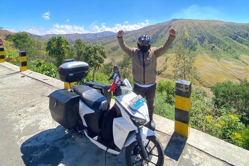 Pria Ini Touring Jakarta-Mandalika Pakai Motor Listrik Gesits