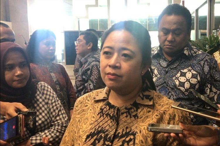Ketua DPR RI Puan Maharani di Kompleks Parlemen, Senayan, Jakarta, Jumat (4/10/2019).