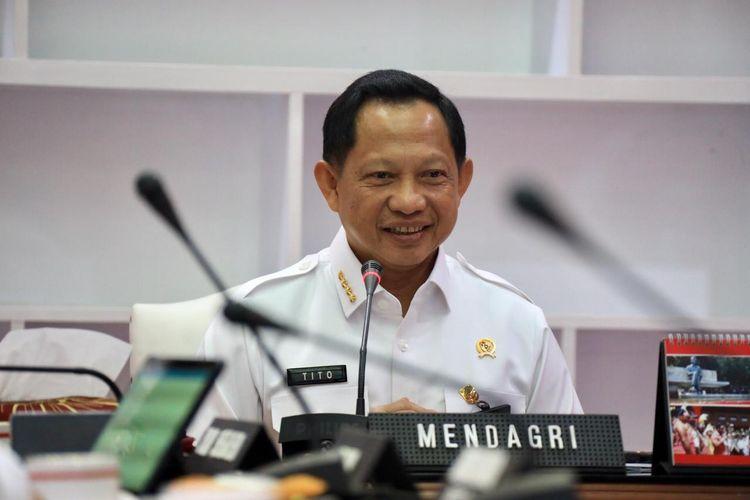 Mendagri Tito Karnavian saat menggelar pertemuan dengan KPK bicarakan penjagaan anggaran.