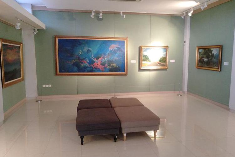 Salah satu Ruang pameran lukisan di museum Basoeki Abdullah