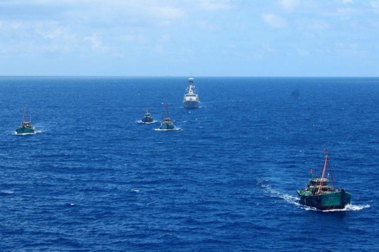 KRI Bung Tomo-357 unsur Satuan Kapal Eskorta (Satkor) Koarmada I berhasil menangkap 4 Kapal Ikan Asing (KIA) asal Vietnam.  Dan melakukan pengusiran terhadap 2 Kapal Vietnam Fisheries Resources Surveillance (VFRS) atau Kapal Pengawas Perikanan Vietnam, Kiem Ngu 214214 dan Kiem Ngu 214263 yang melakukan manuver hostile intent (Niat bermusuhan) dengan berupaya untuk menghalangi pengawalan KIA Vietnam yang dilakukan oleh KRI TOM-357 hingga hostile act (Tindakan bermusuhan) dengan menuver yang membahayakn KRI dan kapal tangkapan di Laut Natuna Utara.