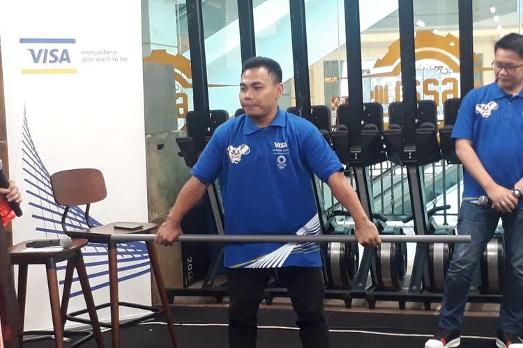 Eko Yuli Irawan saat ditemui di Cross Fit 6221, Kuningan, Jakarta, Kamis (5/3/2020).
