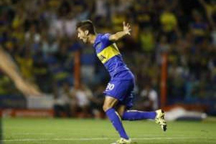 Gelandang muda Boca Juniors, Rodrigo Bentancur.