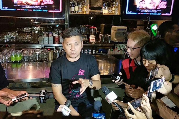 Gading Marten dalam jumpa pers film Love for Sale di Grand Indonesia, Jakarta Pusat, Rabu (7/3/2018).