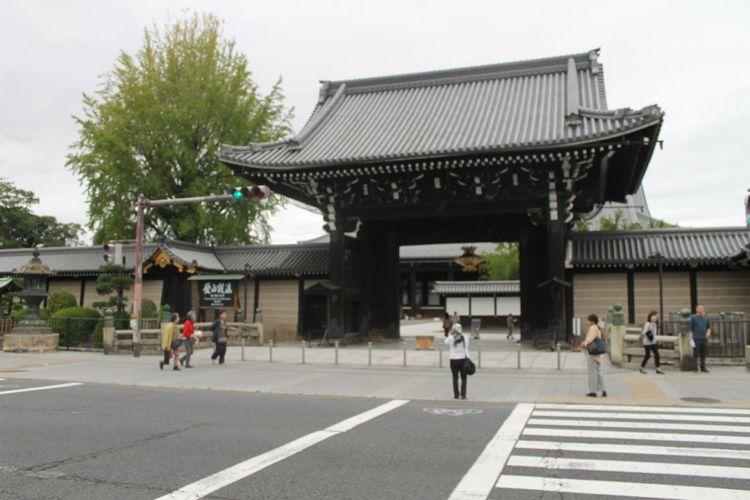 Kuil Hongwanji di Kyoto, Jepang, Kamis (12/10/2017).