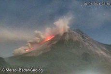 Gunung Merapi Keluarkan 5 Awan Panas, Meluncur hingga 2.000 Meter