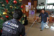 Beri Kenyamanan Saat Natal, Go-Clean Bersihkan 50 Gereja