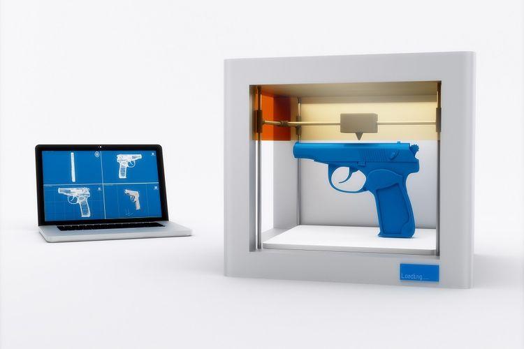 Ilustrasi Senjata Api 3 Dimensi