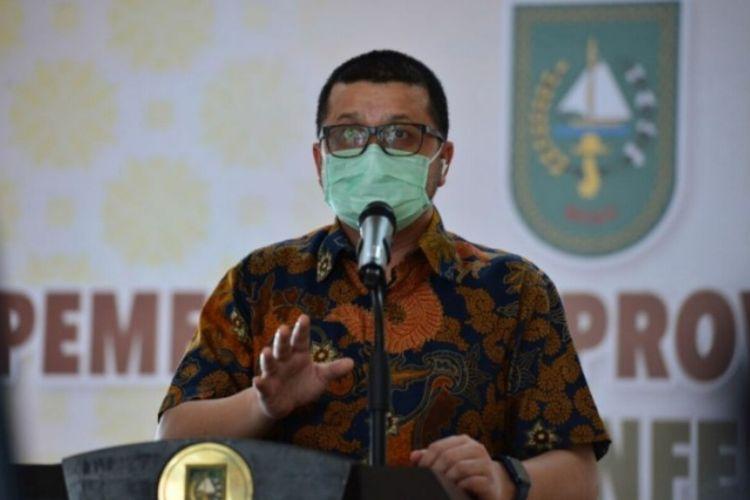 Juru Bicara (Jubir) Satgas Percepatan Penangangan Covid-19 Riau, dr Indra Yovi