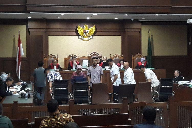 Enam pejabat dan pegawai Direktorat Cipta Karya Kementerian PUPR bersaksi di Pengadilan Tipikor Jakarta, Senin (8/4/2019).