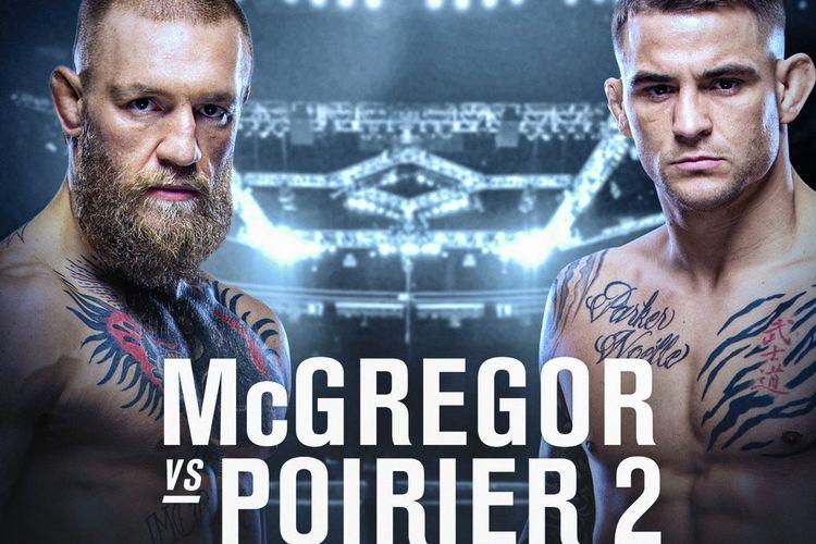 Poster duel amal Conor McGregor dan Dustin Poirier yang direncanakan oleh The Notorious tanpa melibatkan UFC.