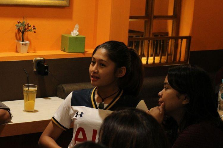 Zahra Muzdalifah, gelandang Timnas Sepak Bola Perempuan Indonesia, salah satu pemain yang bakal berlaga untuk Indonesia pada turnamen regional AIA di Bangkok mulai 5 Maret 2019.