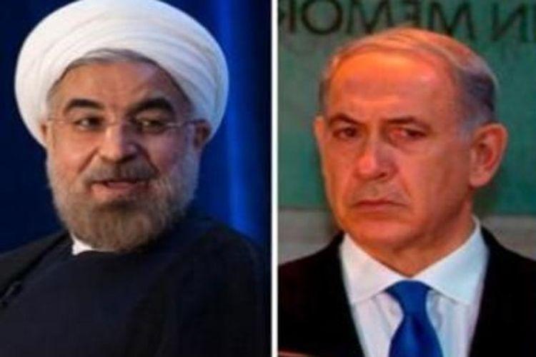 Hassan Rouhani (kiri) dan Benjamin Netanyahu (kanan). [Reuters/Al Arabiya]
