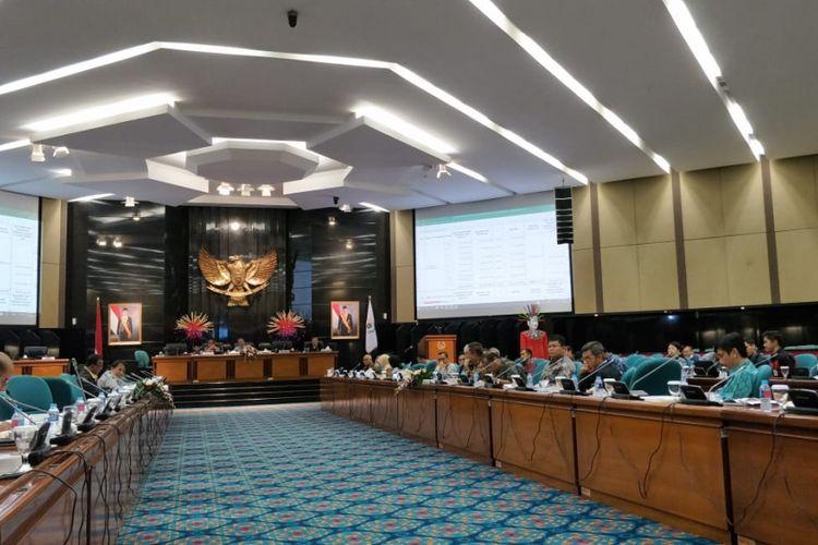 Rapat Badan Anggaran (Banggar) DPRD DKI Jakarta bersama Pemprov DKI Jakarta, di Gedung DPRD DKI, Jalan Kebon Sirih, Jakarta Pusat, Kamis (15/11/2018).