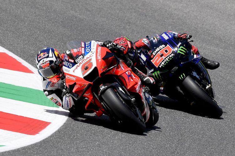 Johann Zarco saat balapan pada MotoGP Italia 2021. (Photo by Tiziana FABI / AFP)