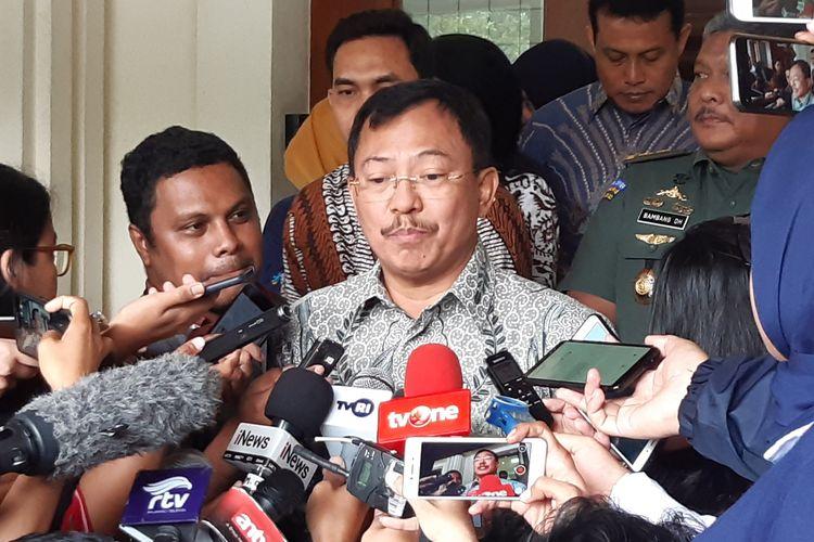 Menteri Kesehatan (Menkes) Terawan Agus Putranto di kantor Kemenko Polhukam, Jumat (7/2/2020).