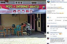 Viral, Unggahan Polsek di Pasuruan Sediakan Wifi Gratis untuk Belajar Daring Siswa