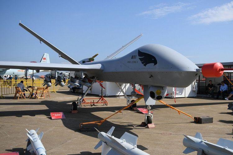 Perangkat pesawat nirawak Wing Loong II buatan China yang disebut telah digunakan dalam konflik di Libya.
