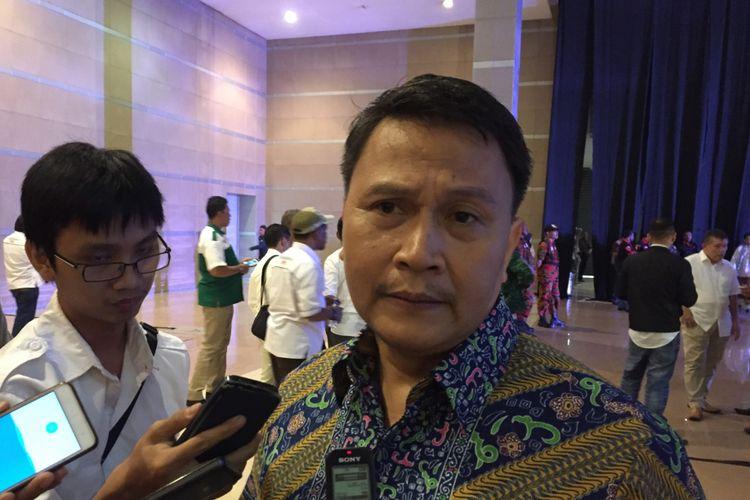 Ketua Tim Pemenangan Anies Baswedan dan Sandiaga Uno, Mardani Ali Sera, saat acara silaturahim relawan Anies-Sandi di JIExpo Kemayoran, Jakarta Pusat, Minggu (13/8/2017).