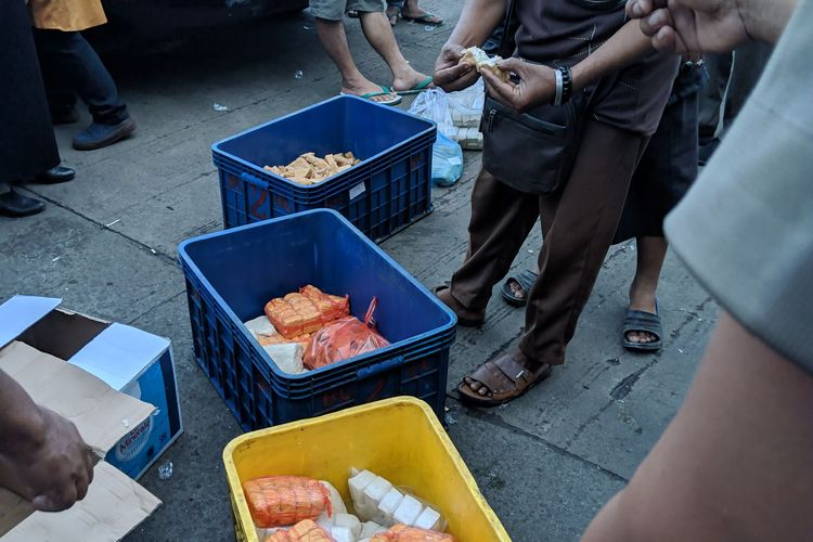Produk olahan tahu berformalin beredar di Pasar Anyar disita Satpol PP Kota Tangerang, Rabu (18/12/2019)