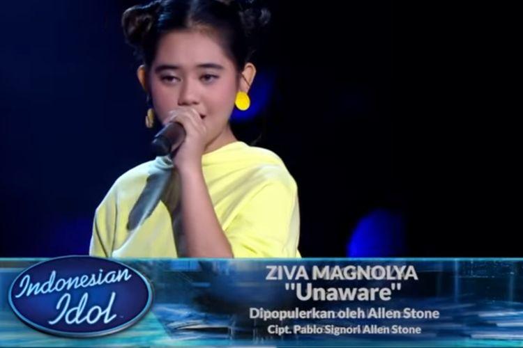Ziva tampil di showcase pertama Indonesian Idol X, Senin (4/11/2019) malam.