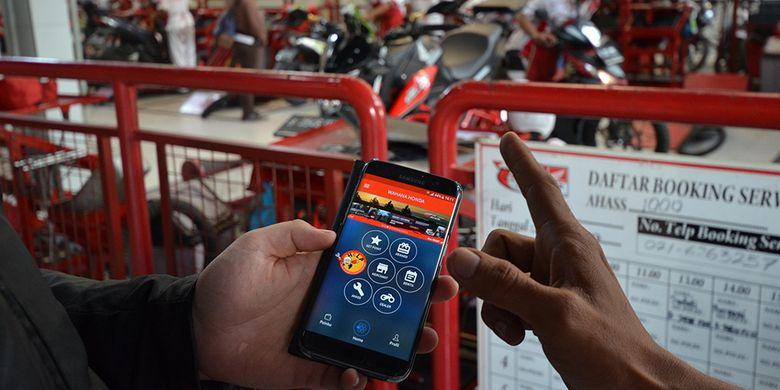 Aplikasi gadget Wahana Honda Smart Community.