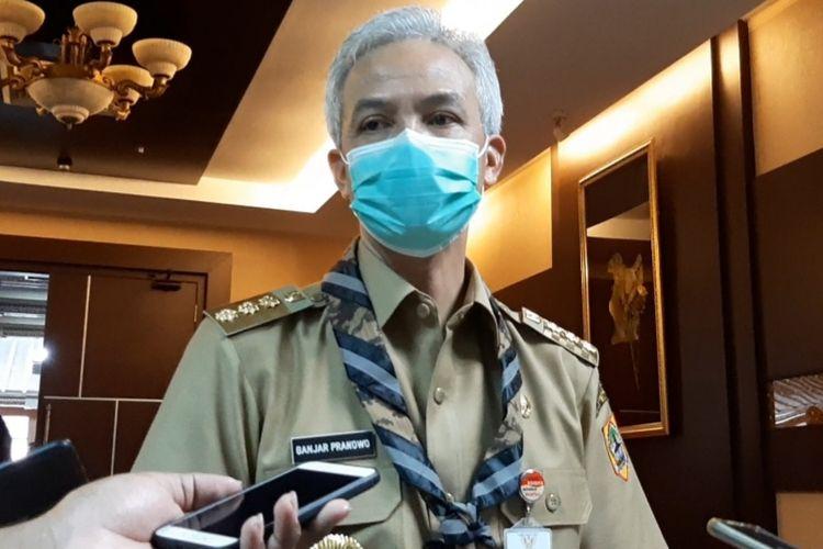 Gubernur Jawa Tengah Ganjar Pranowo saat ditemui di kantornya, Senin (10/8/2020).